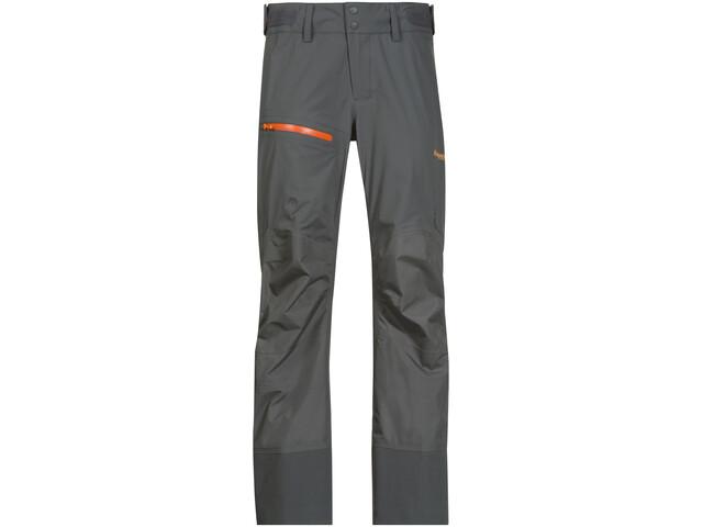 Bergans Storen Pants Lady Solid Dark Grey/Pumpkin